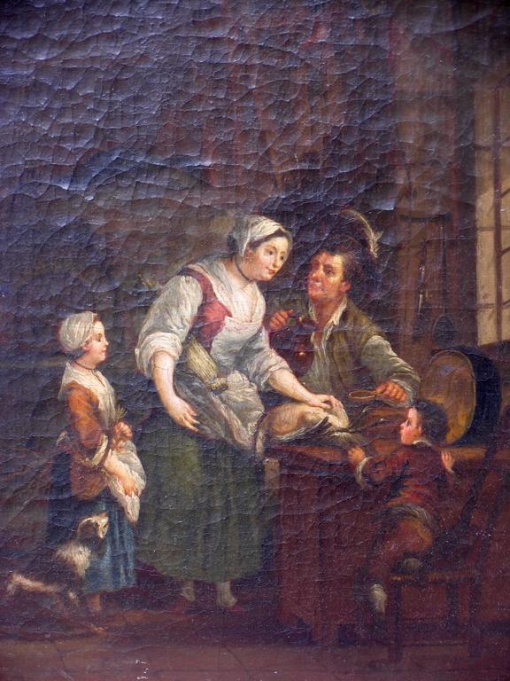 Baroque Pair of 18th Century Interiors For Sale