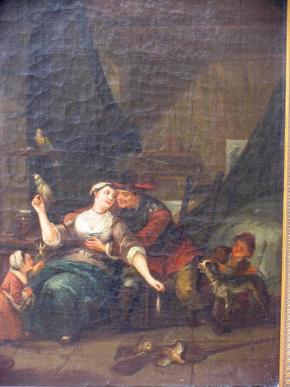 Belgian Pair of 18th Century Interiors For Sale