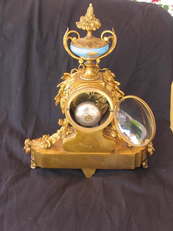 French 19th Century Louis XV Style Mantel Clock For Sale