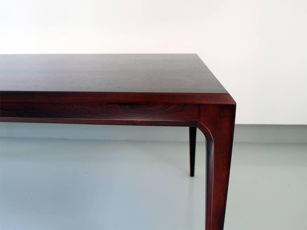 Johannes Andersen Rosewood Minimalist Coffee Table, Denmark, 1960s For ...