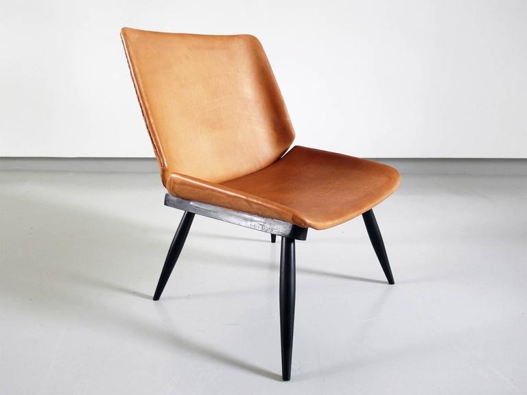 Fantastic Tapiovaara Style Scandinavian Leather Easy Chair With Black Inzonedesignstudio Interior Chair Design Inzonedesignstudiocom