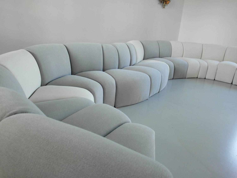 exclusive sectional sofa model 100 mississippi by artifort 17 elements at 1stdibs. Black Bedroom Furniture Sets. Home Design Ideas