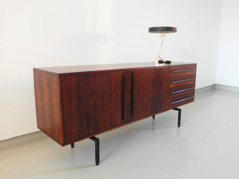 Stylish High Quality Mid Century Modern Rosewood Sideboard, Italy, circa 1955 For Sale at 1stdibs