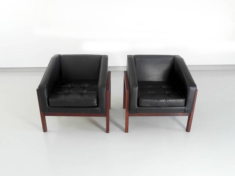 Merveilleux Mid Century Modern Unique Pair Of Lounge Chairs Designed By Dutch Architect  Wim Den Boon