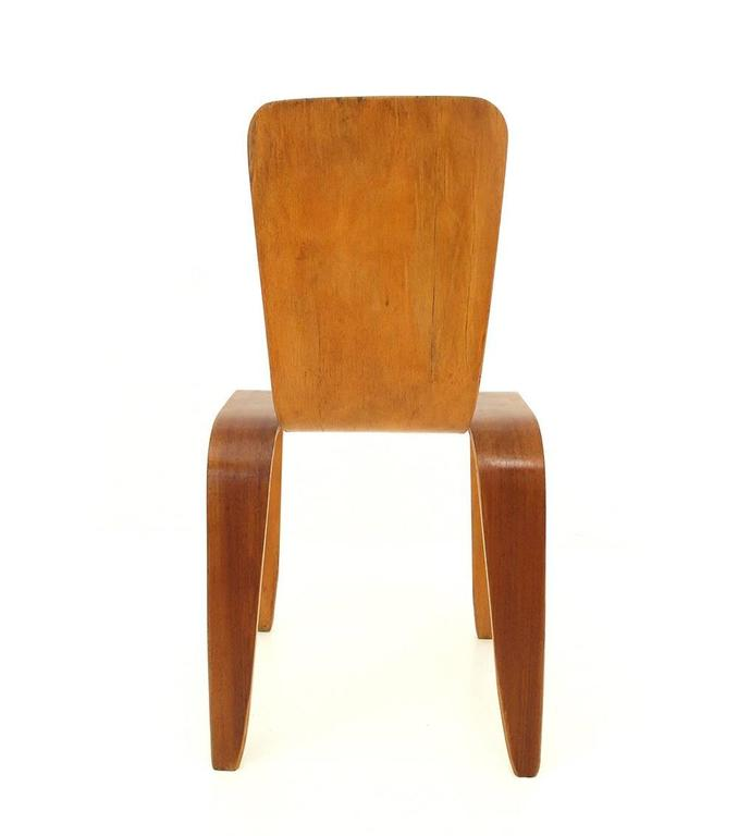 Mid-Century Modern Han Pieck Plywood Bambi Chair Rare and Early Dutch Design, the Netherlands, 1946 For Sale