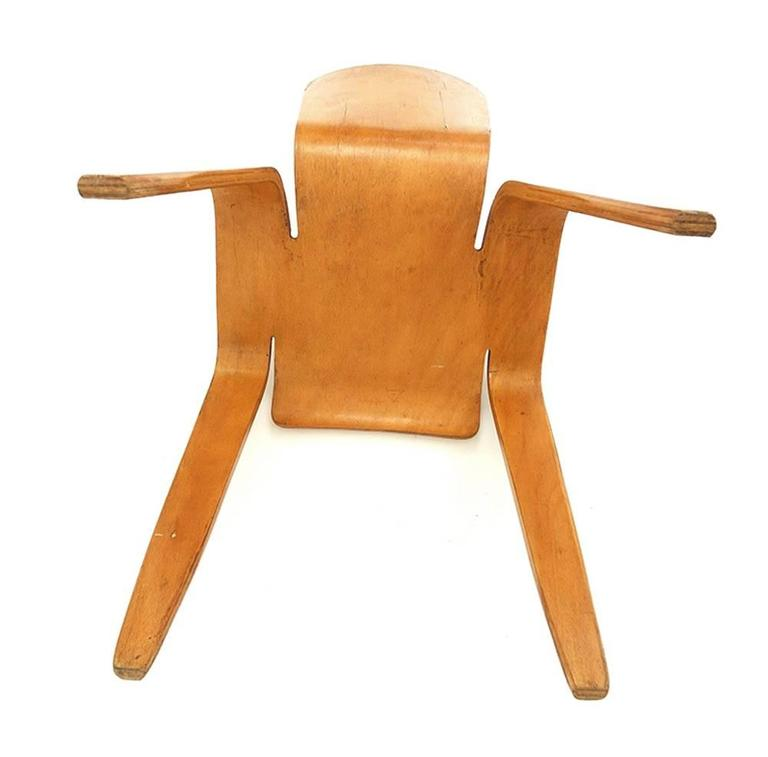 Han Pieck Plywood Bambi Chair Rare and Early Dutch Design, the Netherlands, 1946 In Good Condition For Sale In Woudrichem, NL