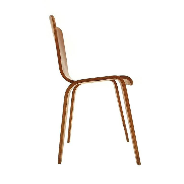 Mid-20th Century Han Pieck Plywood Bambi Chair Rare and Early Dutch Design, the Netherlands, 1946 For Sale
