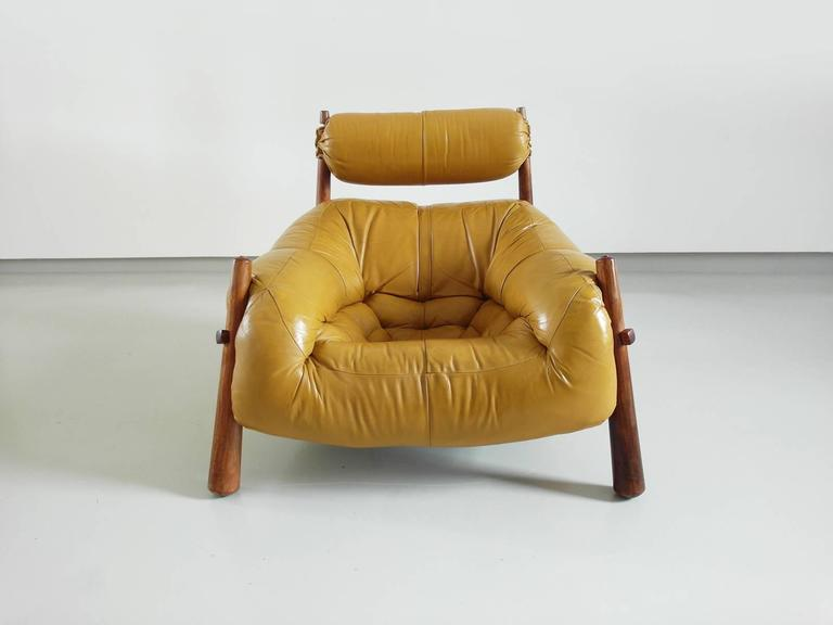 Charmant Mid Century Modern Percival Lafer Brazilian Lounge Chair In Yellow Ocre  Leather For Later S.A.