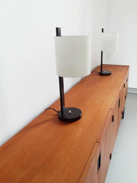 Mid-Century Modern Rare Pair of French Mathieu Mategot Style Midcentury Modern Table Lamps For Sale