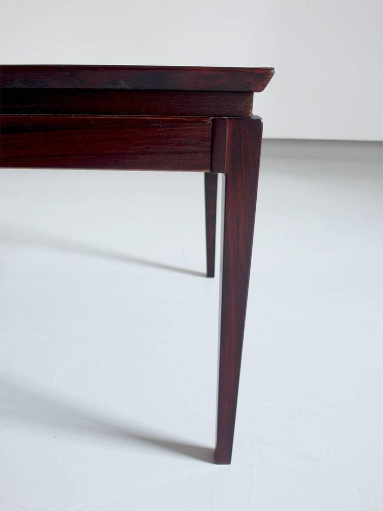 Extendable Danish Coffee Table In Rosewood Attributed To Kai Kristiansen 1960s At 1stdibs