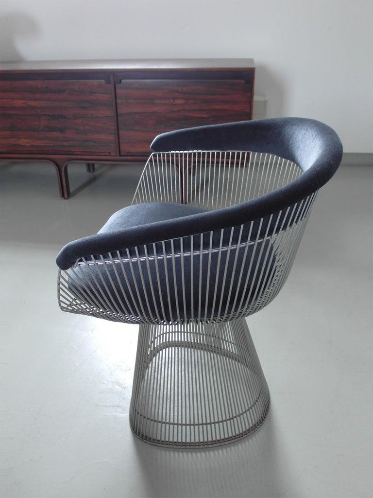Velvet Original 1970s Edition Armchair Designed by Warren Platner for Knoll, 1966 For Sale