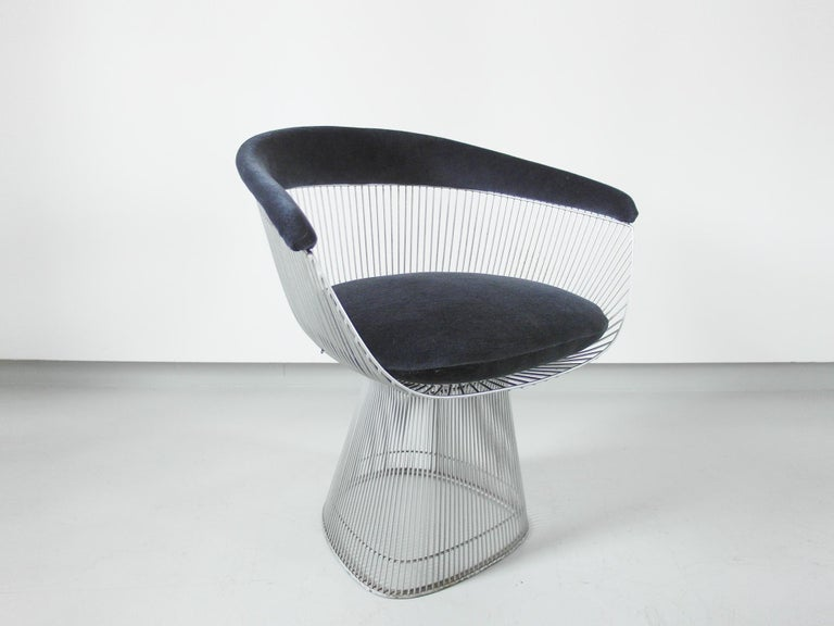 Mid-Century Modern Original 1970s Edition Armchair Designed by Warren Platner for Knoll, 1966 For Sale