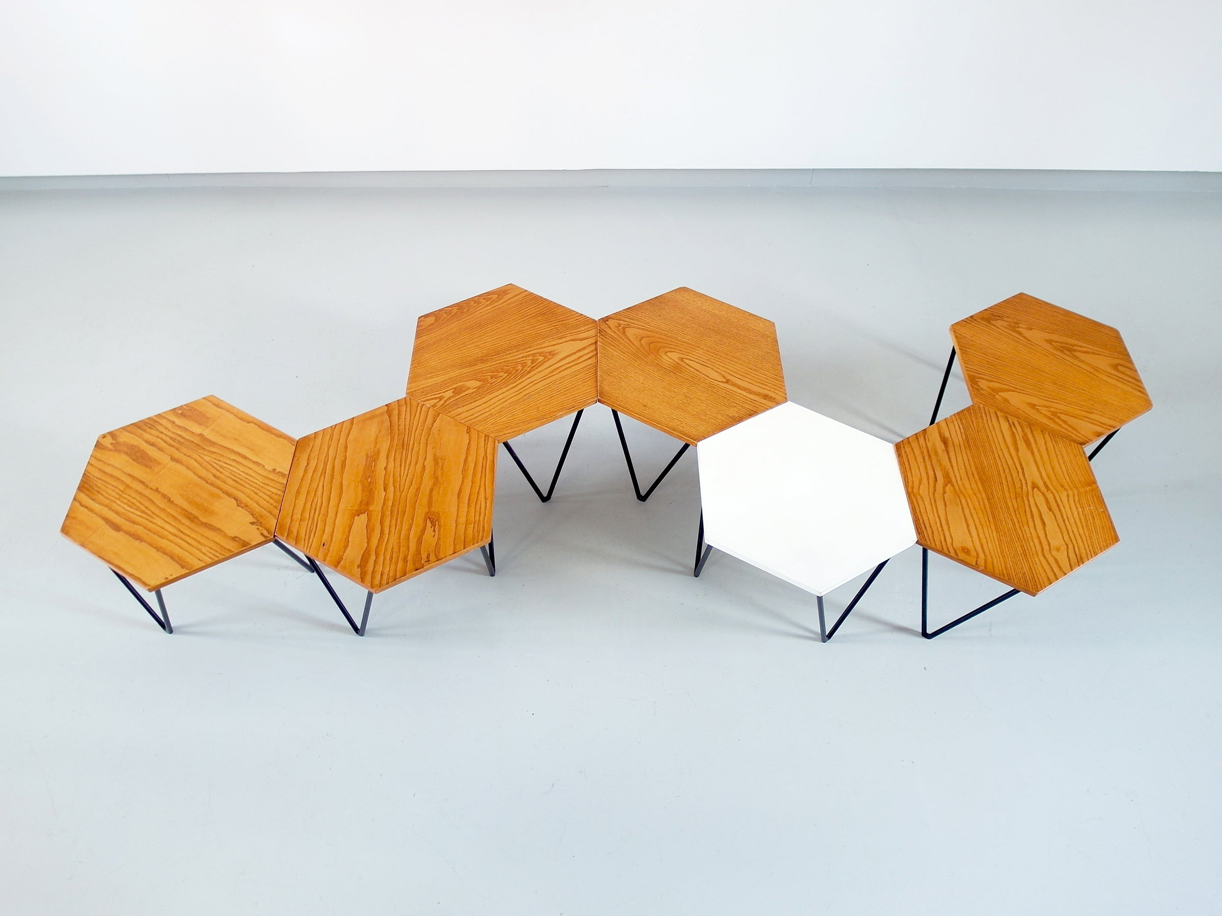 Gio Ponti Set Of Seven Modular Coffee Tables For Isa,