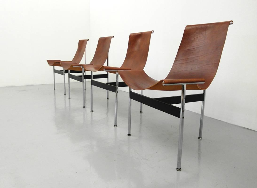 set of four t chairs by katavolos littel and kelly for laverne int