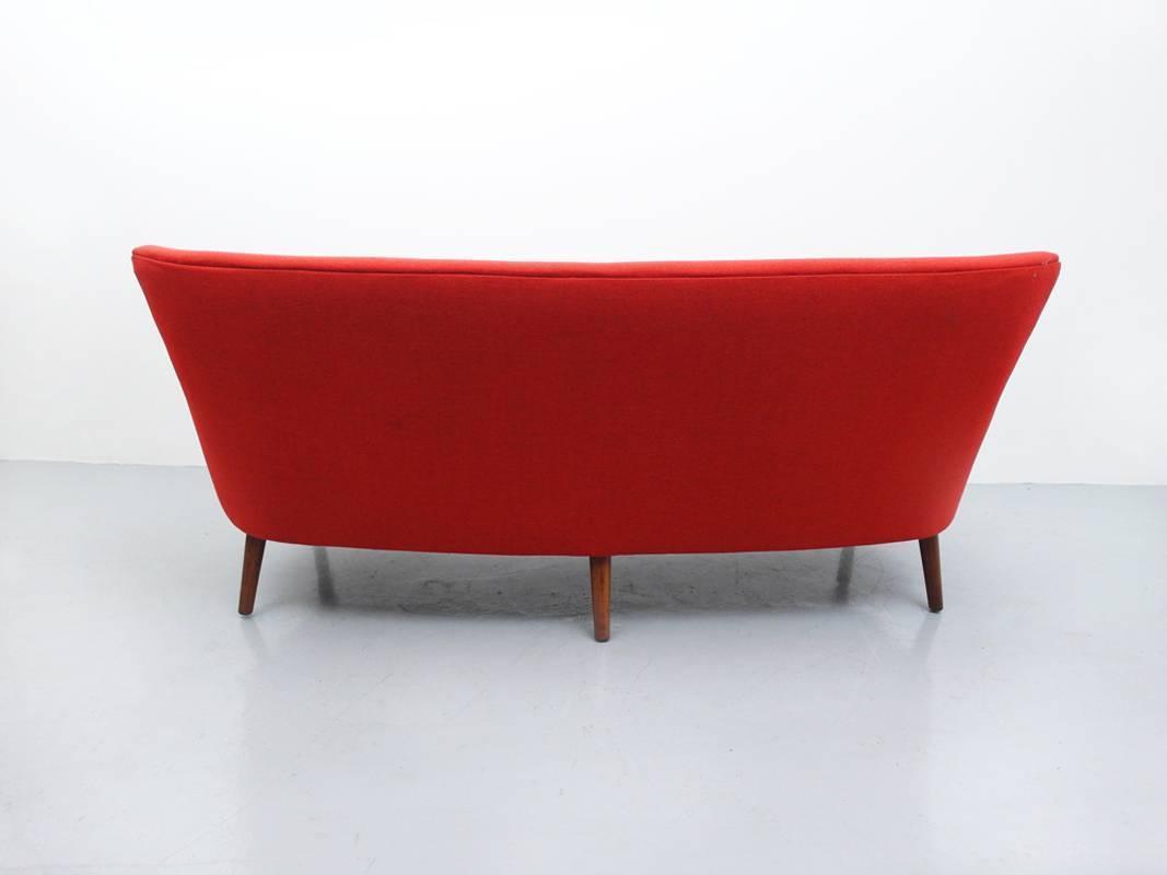 Danish Curved Back Sofa By Kurt Olsen For Slagelse Mobelvaerk For Sale At 1stdibs