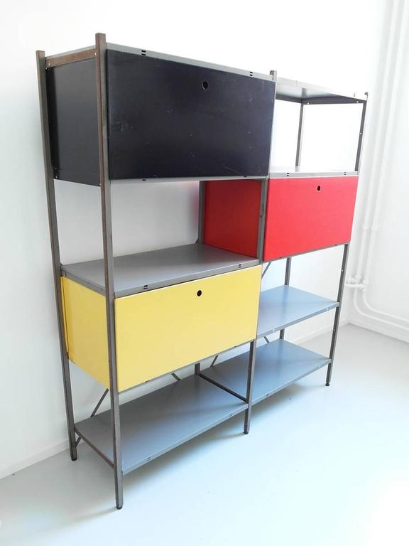 metal storage cabinet. Colorful Industrial Metal Storage Cabinet By Wim Rietveld For Gispen, The Netherlands 1954. This 8