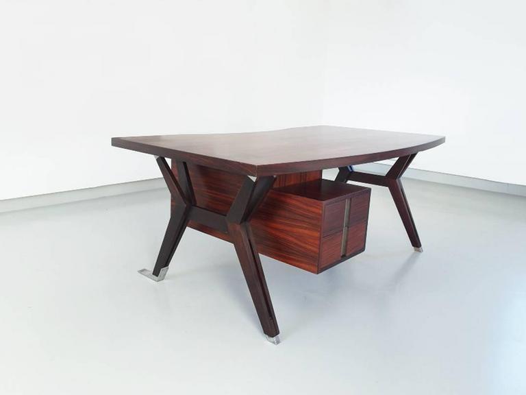 Mid-Century Modern Ico Parisi Terni Executive Desk for Mim Roma, Italy, 1958 For Sale