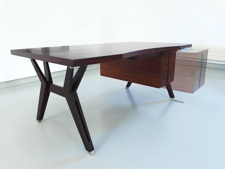 Ico Parisi Terni Executive Desk for Mim Roma, Italy, 1958 For Sale 2