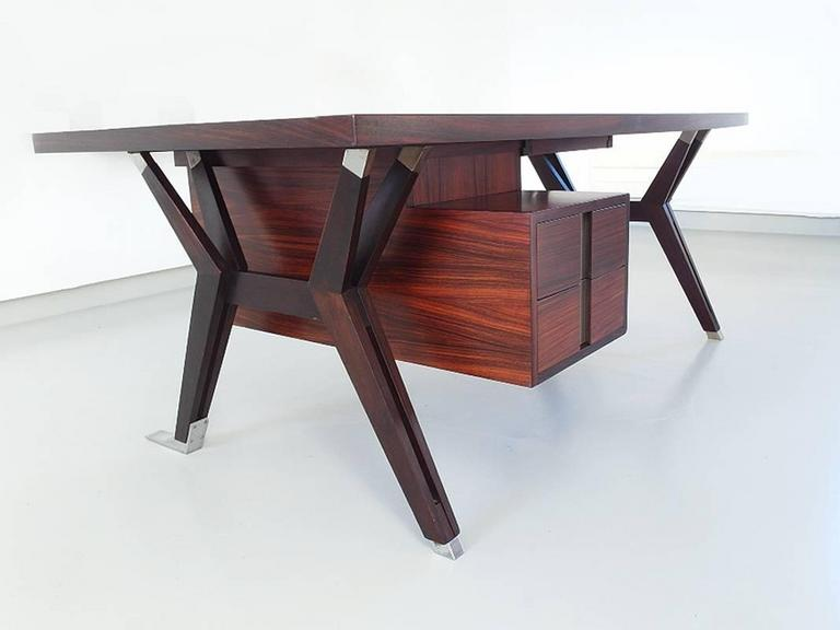 Ico Parisi Terni Executive Desk for Mim Roma, Italy, 1958 In Excellent Condition For Sale In Woudrichem, NL