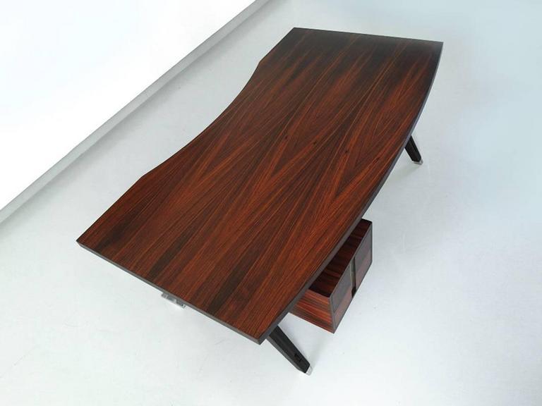 Ico Parisi Terni Executive Desk for Mim Roma, Italy, 1958 For Sale 3