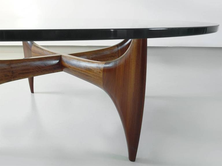 High Quality Brazilian Sculptural Coffee Table In Solid Jacaranda Wood At 1stdibs