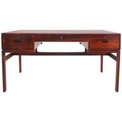 Arne Wahl Iversen Rosewood Desk for Vinde Møbelfabrik, Denmark, 1950s
