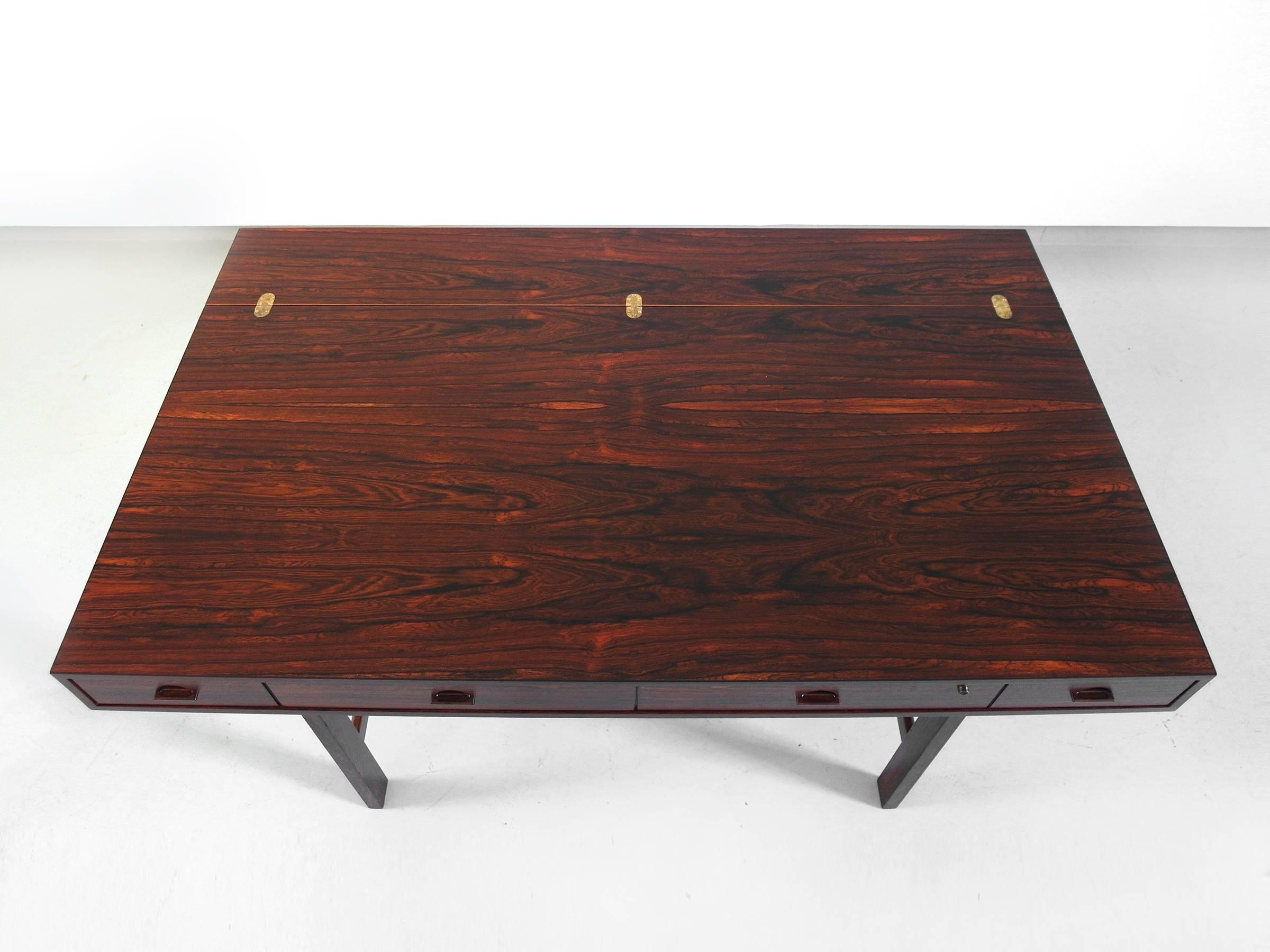 Peter Løvig Nielsen Jens Quistgaard Flip Top Desk In Rosewood Denmark 1966 At 1stdibs