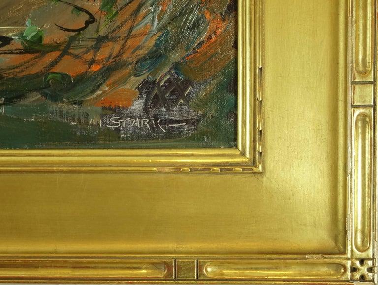 Mid-Century Modern Melville Stark Midcentury Oil Painting of Fishermen