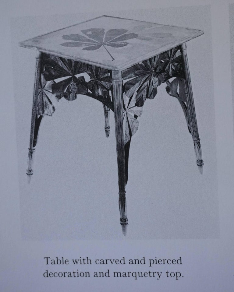 Louis Majorelle Signed French Art Nouveau Game Table, circa 1900 For Sale 4