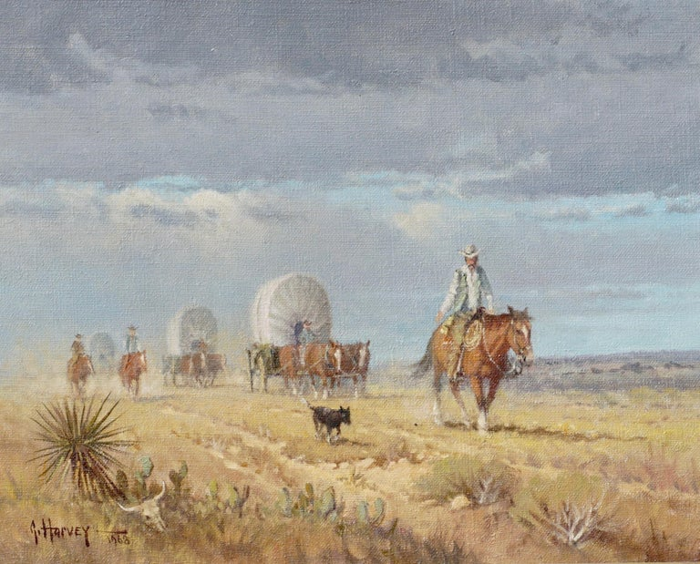 "G. Harvey (Gerald Harvey Jones) (1933-2017) ""Crossing The Texas Plains""
