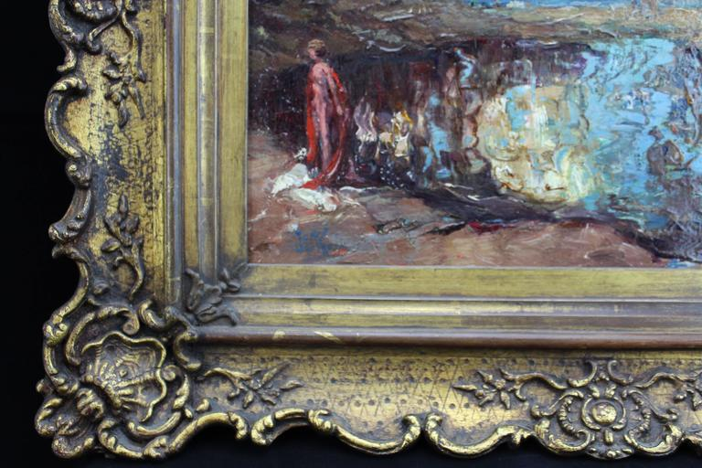 19th Century Surreal Impressionism Nude in the Red Robe