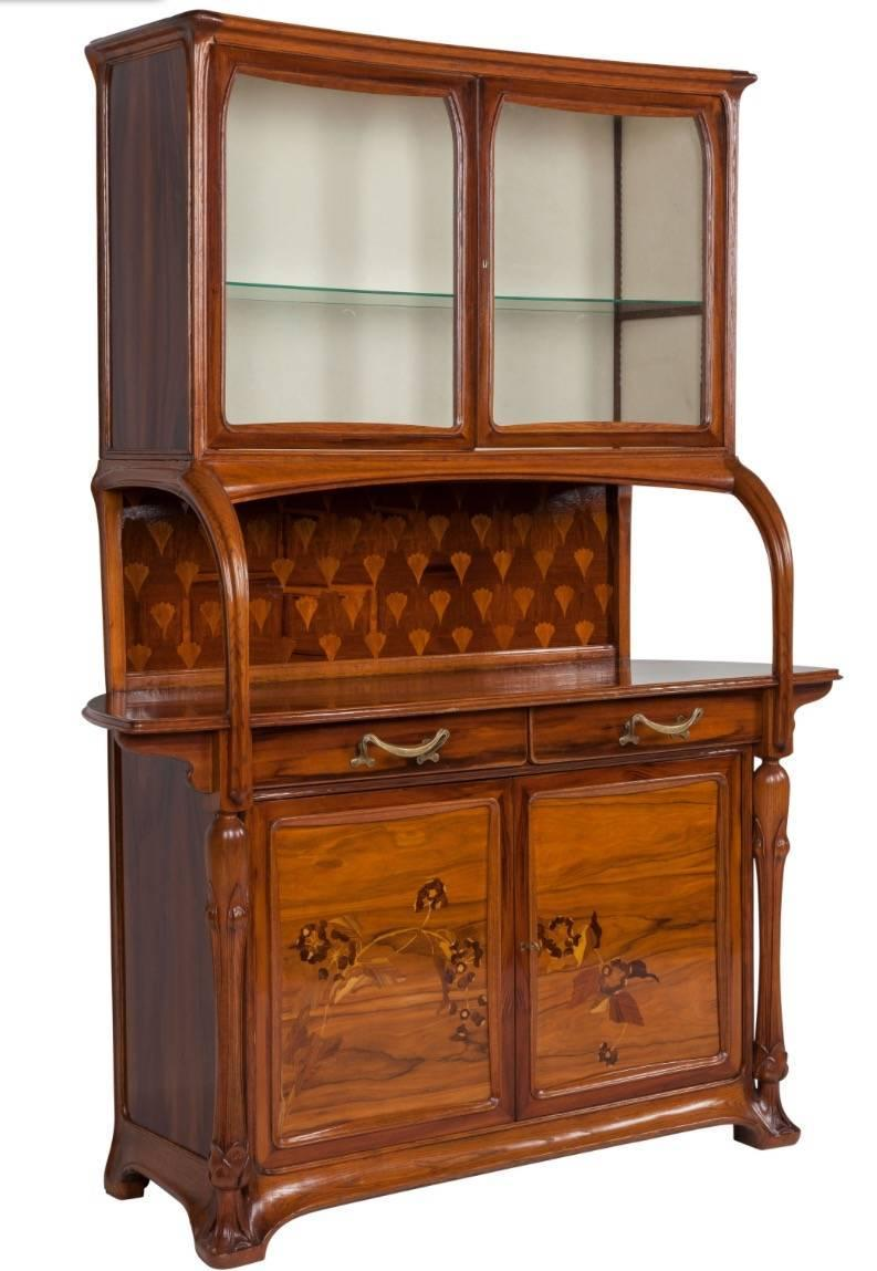 Louis majorelle nancy signed sideboard vitrine circa 1900 for Sideboard vitrine