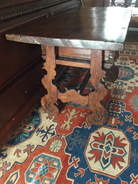 Spanish Colonial Spanish 18th Century Mahogany Refectory Side Table