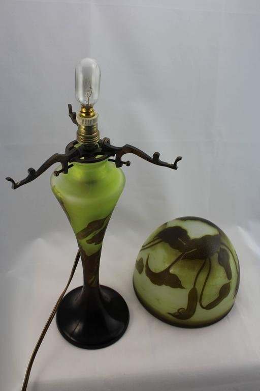 Emile Galle Cameo Art Nouveau Lamp Circa 1900 For Sale At