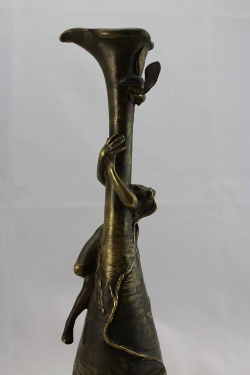 Cast Antoine Bofill Art Nouveau Nude Bronze Sculpture, circa 1900 For Sale