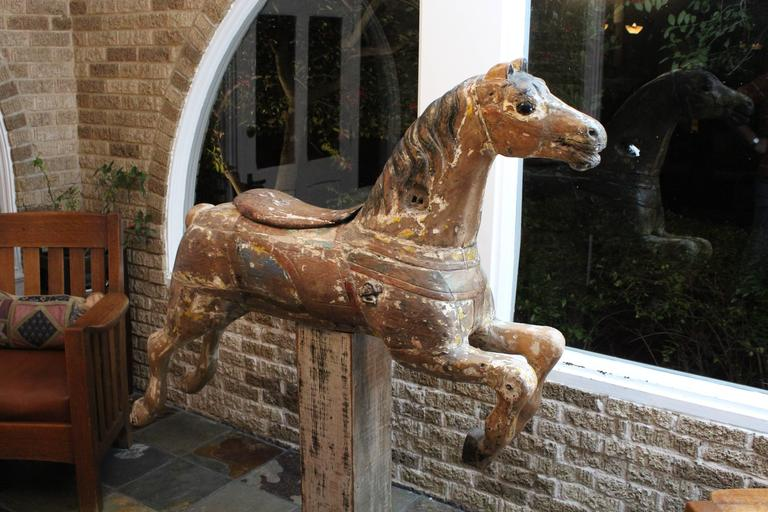 American Classical Large 19th Century Parker American Carousel Horse For Sale
