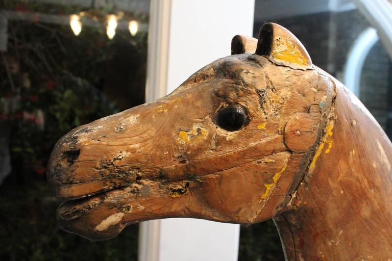 Wood Large 19th Century Parker American Carousel Horse For Sale