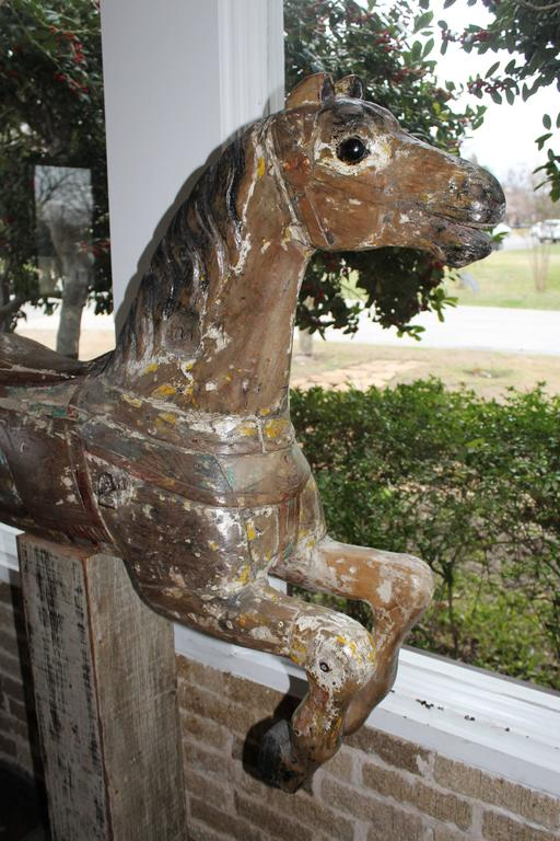 Late 19th Century Large 19th Century Parker American Carousel Horse For Sale