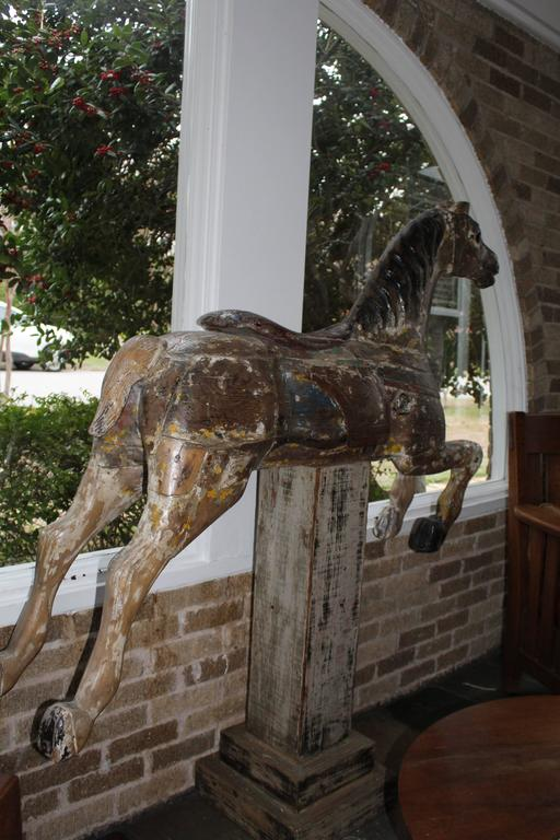 Large 19th Century Parker American Carousel Horse In Good Condition For Sale In Dallas, TX