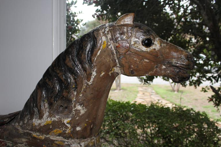 Large 19th Century Parker American Carousel Horse For Sale 1