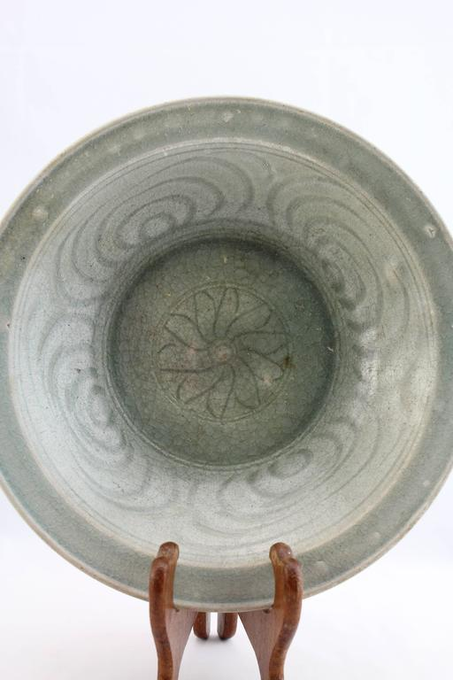 From Sukhothai or Sangkhalok (as named by the Chinese) this antique ceramic bowl is from the original kilns situated outside the wall of the ancient city. 