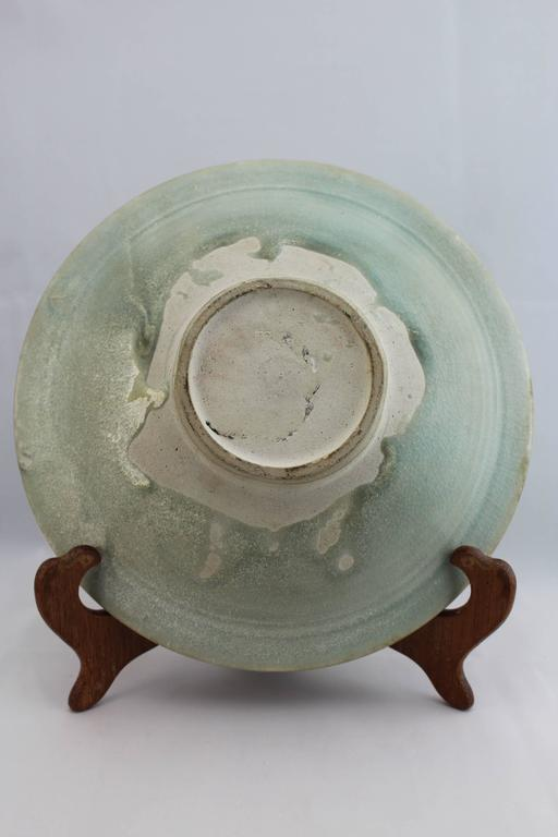Fired Sawankhalok Ceramic Celadon Plate- - Bowl 15th-16thC Thailand