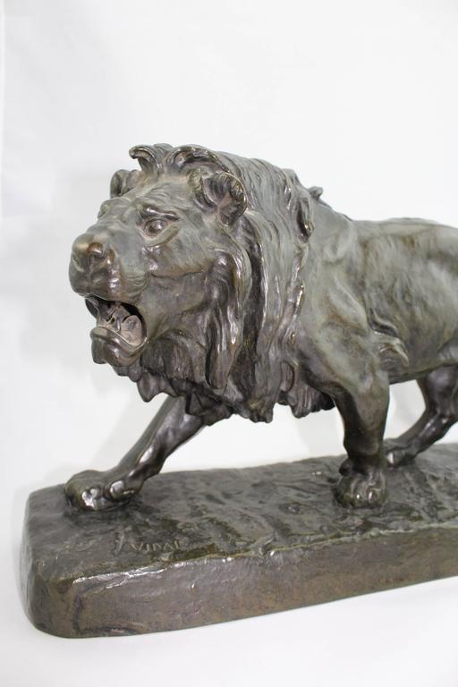 striding lion Open-mouthed lion, teeth bared, striding left one of 120 lifesize lions that lined the processional way from the ishtar gate to the temple of marduk at babylon from babylon, processional street 1899: excavated by the deutsche orient-gesellschaft 1931: purchased by the mfa from the kaiser.