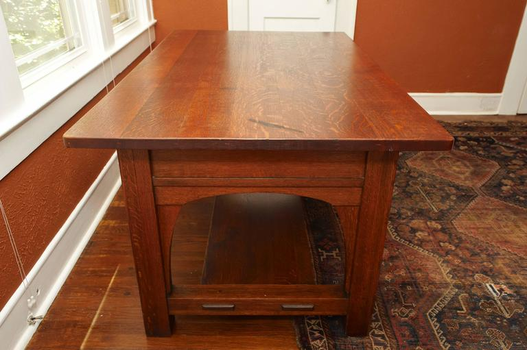 Mission Charles Limbert Large Library Desk Table, circa 1905