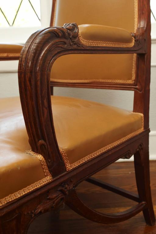 French Art Nouveau Important Desk Armchair, circa 1900 In Good Condition In Dallas, TX