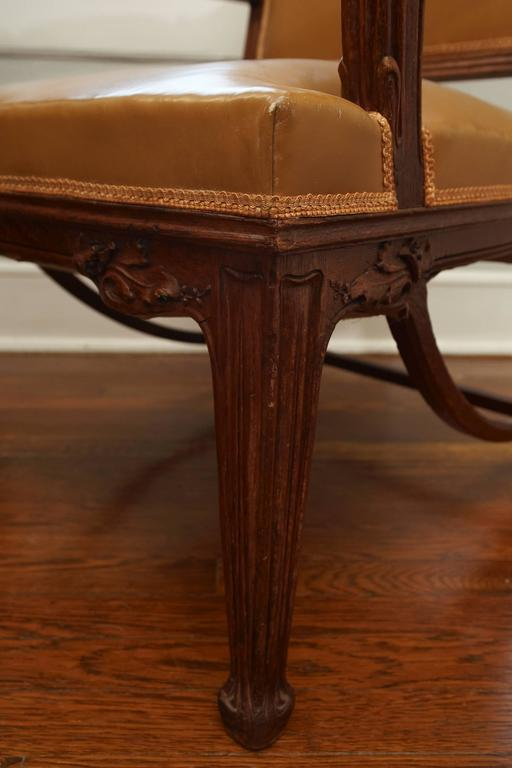 Early 20th Century French Art Nouveau Important Desk Armchair, circa 1900