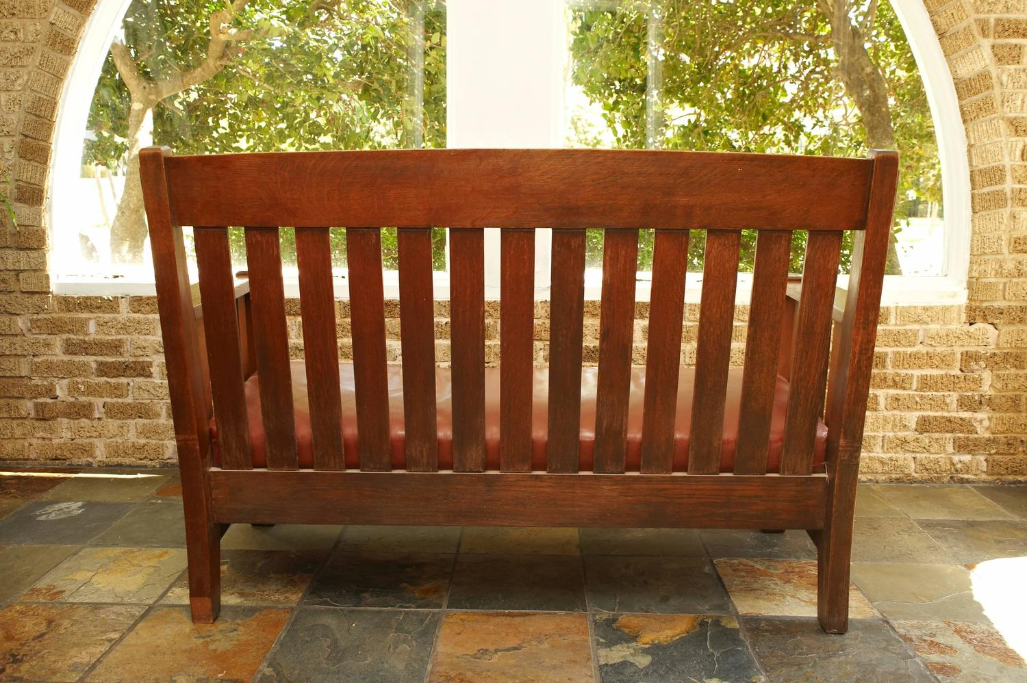 Mission Settee Harden Furniture Co Circa 1907 For Sale