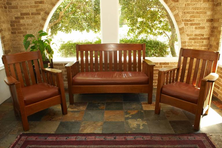 Mission Settee Harden Furniture Co Circa 1907 For Sale At 1stdibs