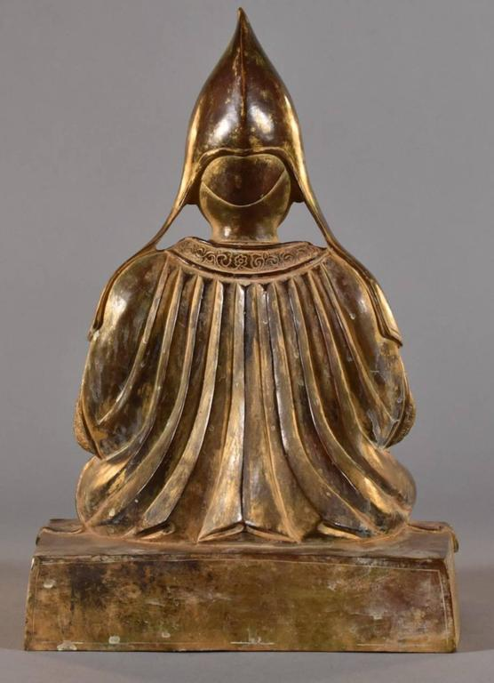 Qing 18th Century Sino-Tibetan Bronze Figure of Tsongkhapa Buddha