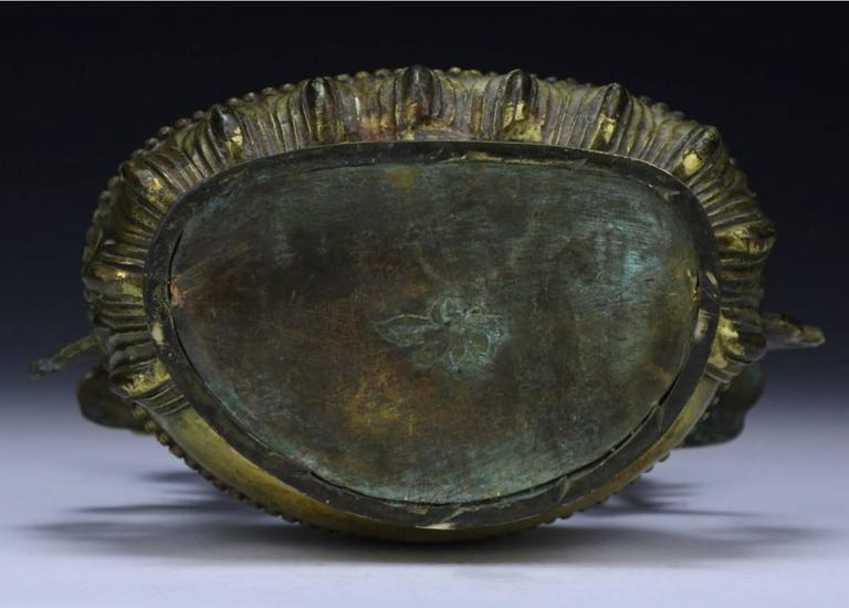 Sino Tibetan Gilt Bronze Buddha or Tara, 19th Century In Excellent Condition In Dallas, TX
